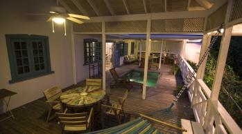 Licorish Tobago Villa Deck at Night