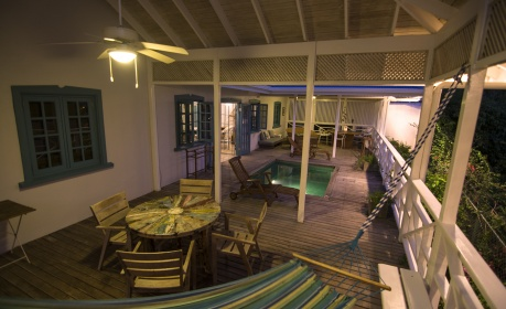 Licorish Tobago Villa Deck at Night