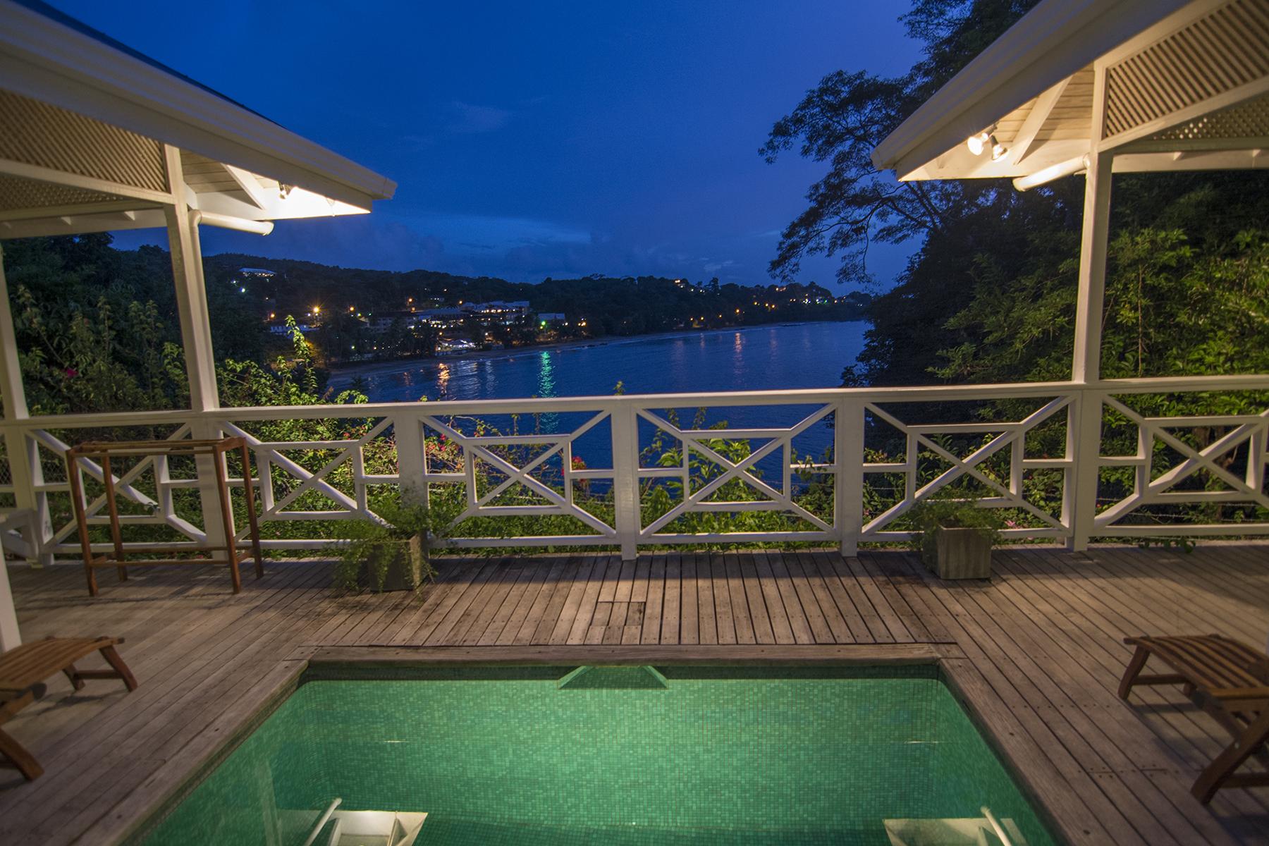 Licorish Villa Tobago Pool at Night
