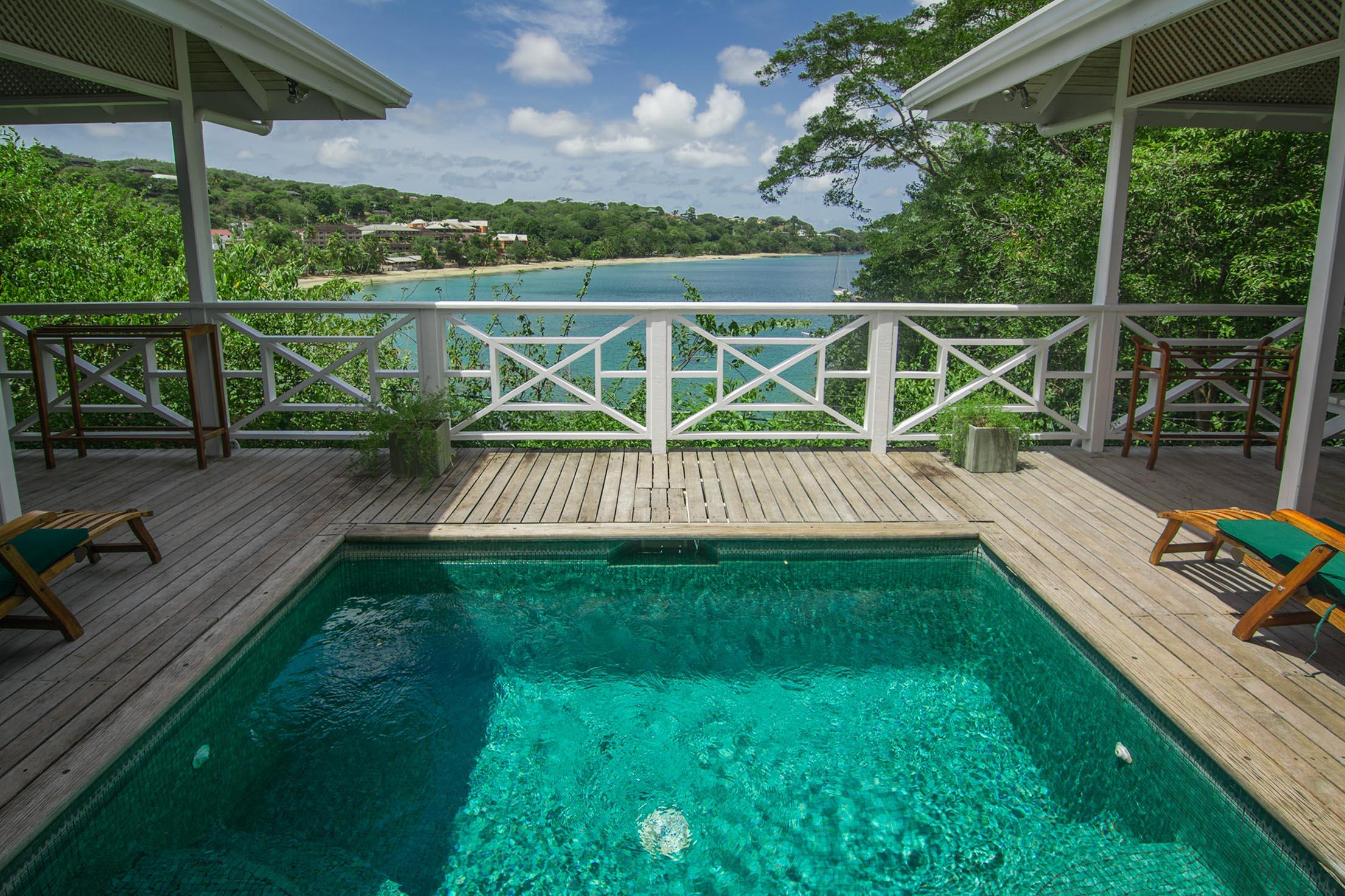 Licorish Villa Tobago Pool and Deck Area
