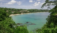 Beach View from Licorish Villa in Black rock Tobago
