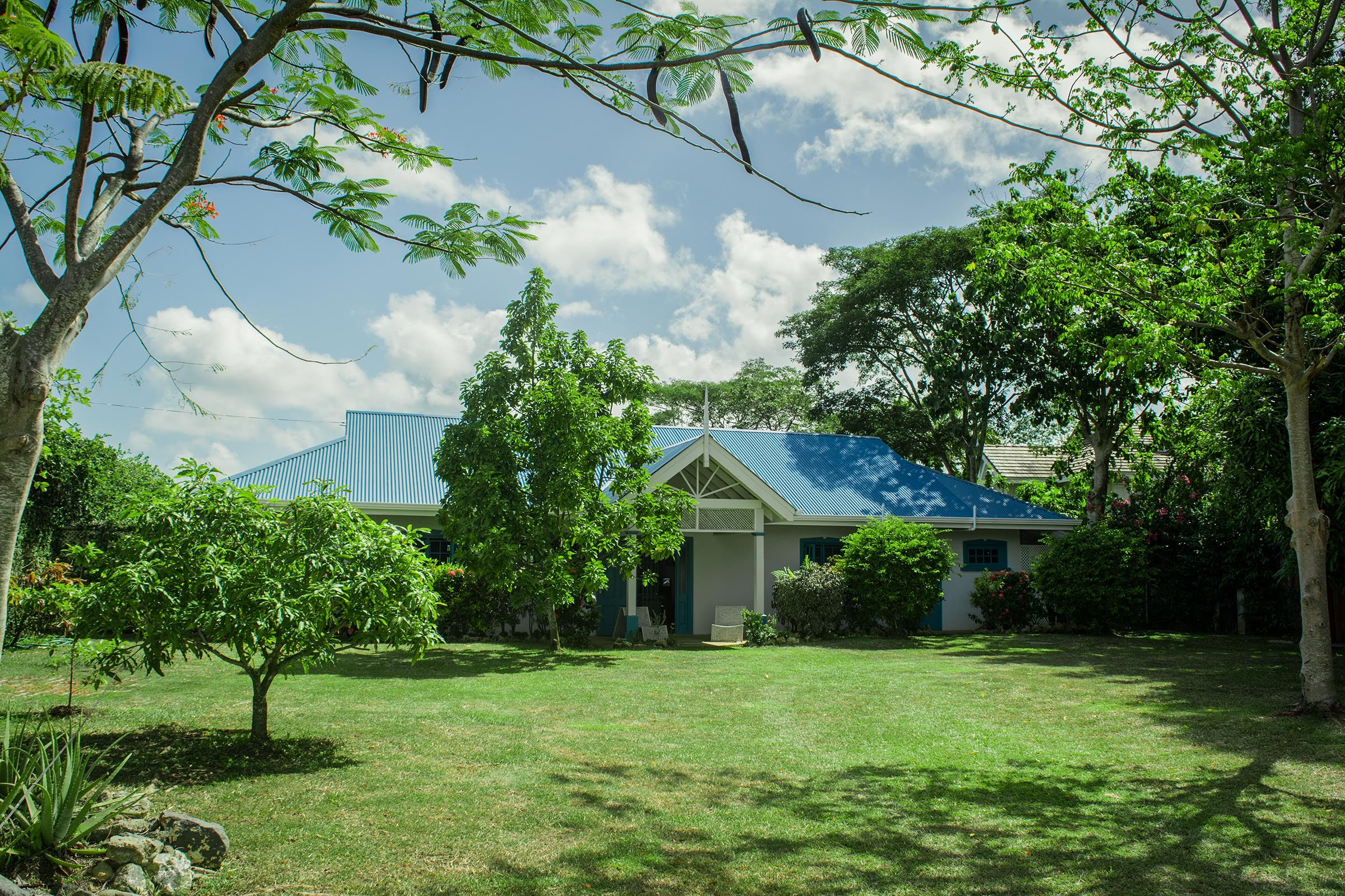 Licorish black rock villas Tobago Spacious Frontyard