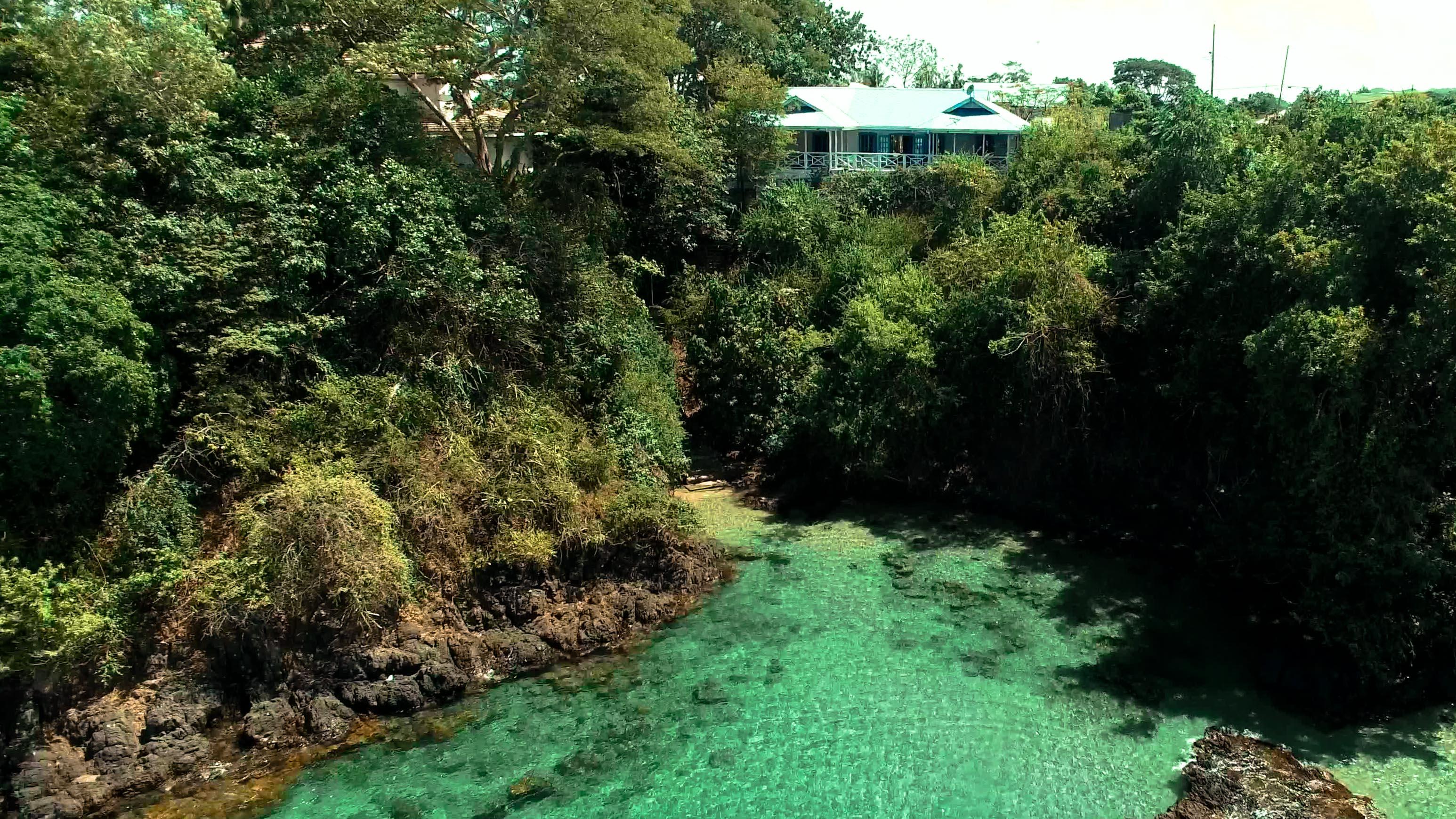 Private Beach Access Licorish Black Rock Villa In Tobago