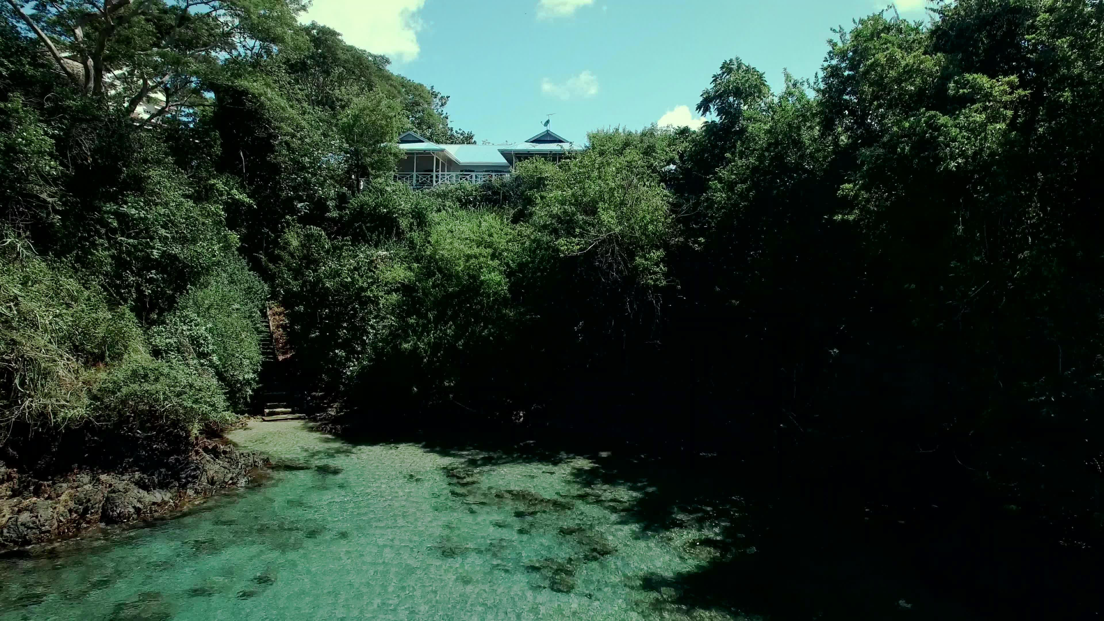Beach access from Licorish Villa in Tobago